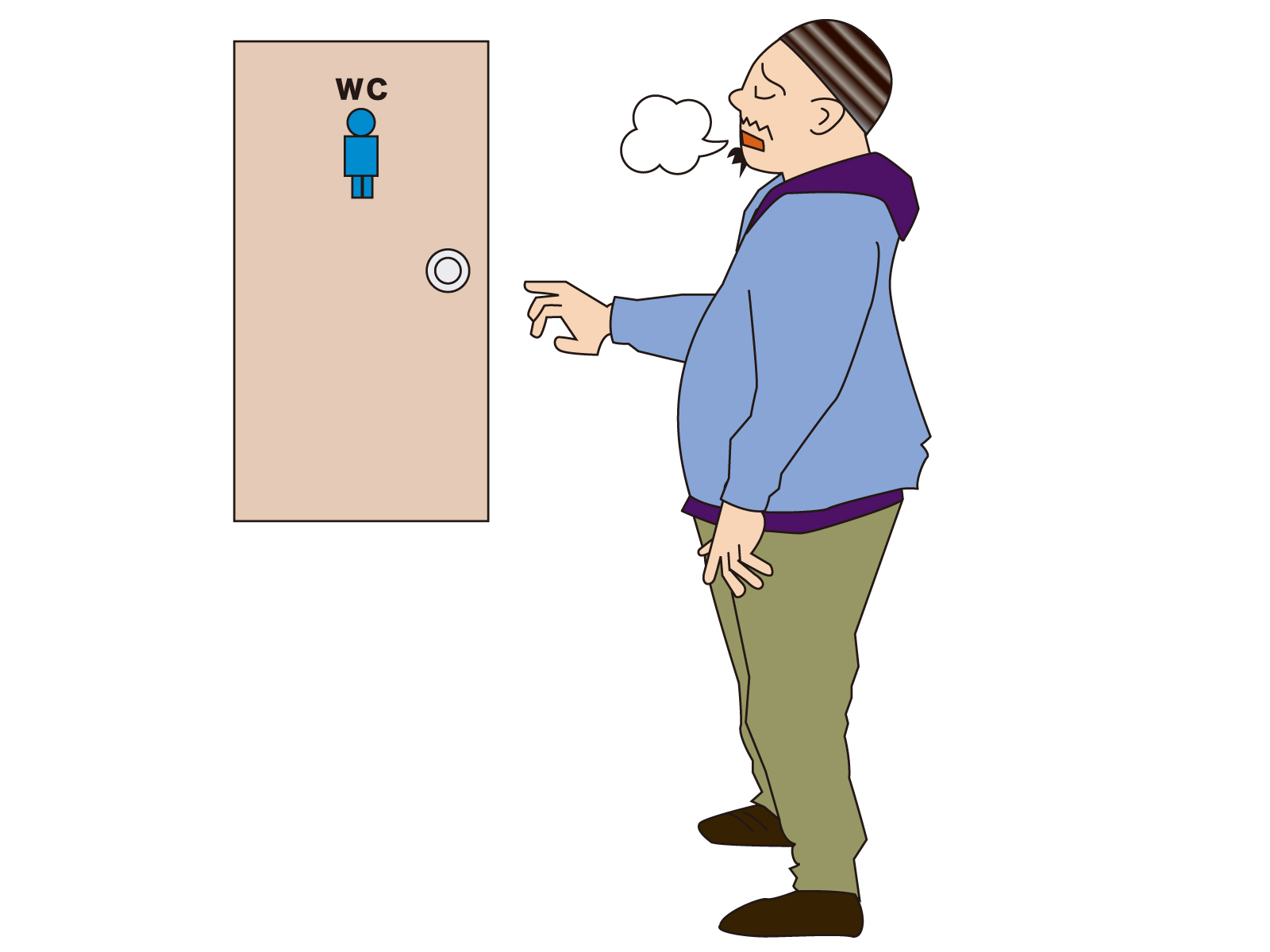 前立腺肥大による頻尿男性